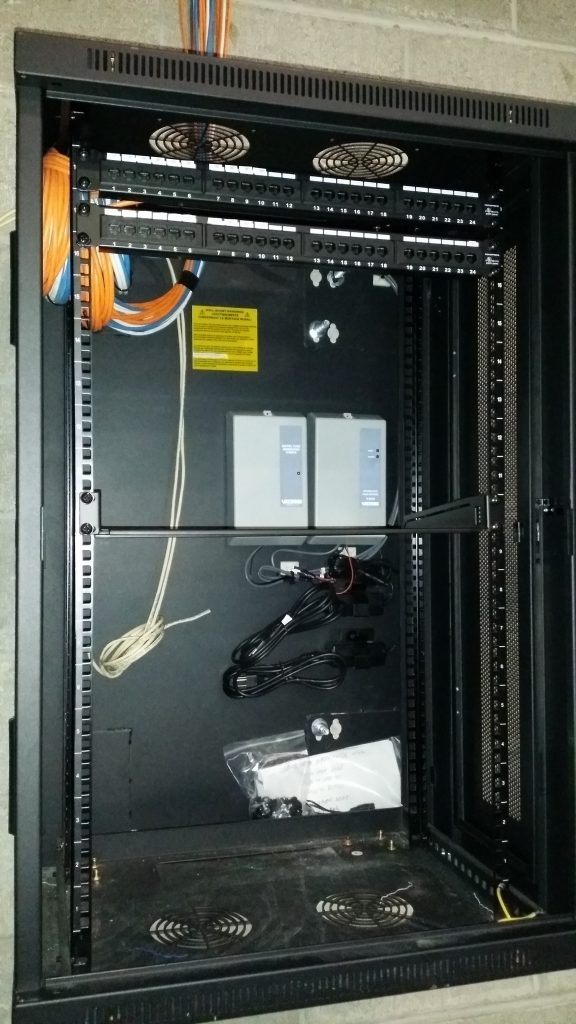 Tree Mounting Cctv Monitoring System : Cat network cabling and rack installation